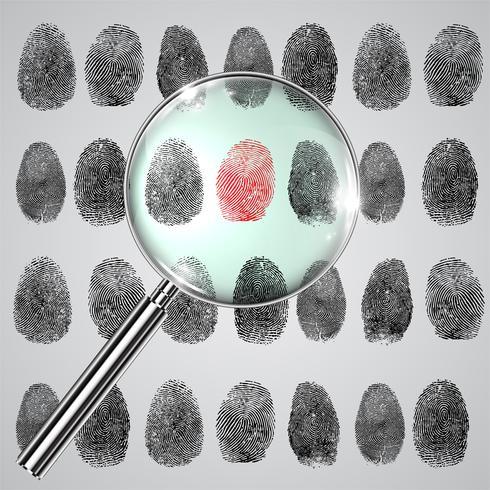Fingerprint and a magnifier