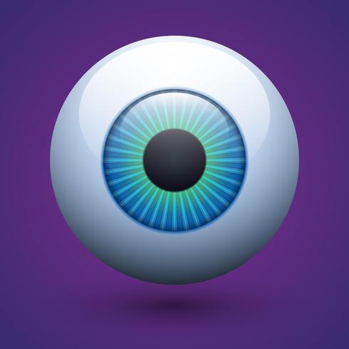 Vector realistische menselijke oogbol illustratie