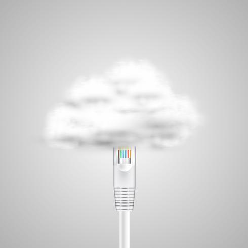 Verbinding met cloud vector