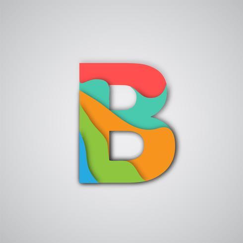 Färgglada pappersskuren skiktad karaktär, vektor