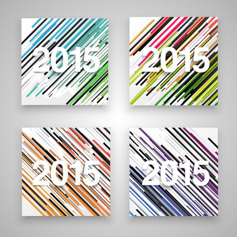2015 made by paper, vector