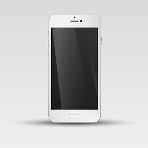 Realistic smartphone, vector illustration