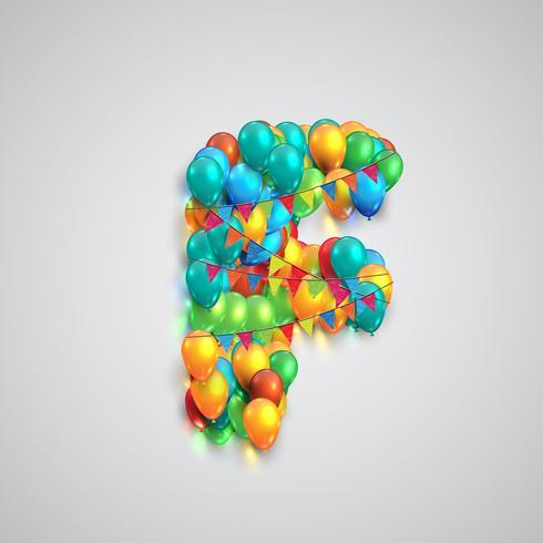 Polices colorées faites par ballons, vector