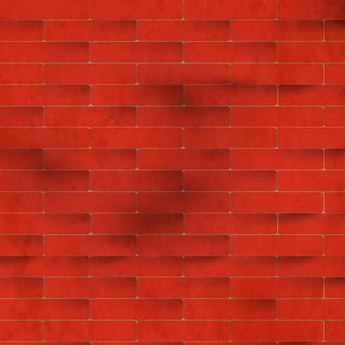 Rode bakstenen muur, vector