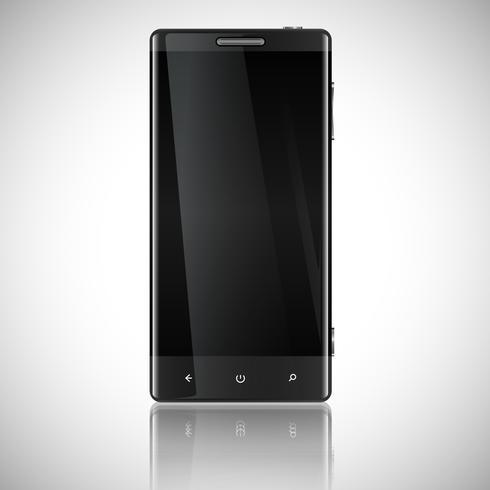 Smartphone, mobil isolerad, realistisk vektor illustration.