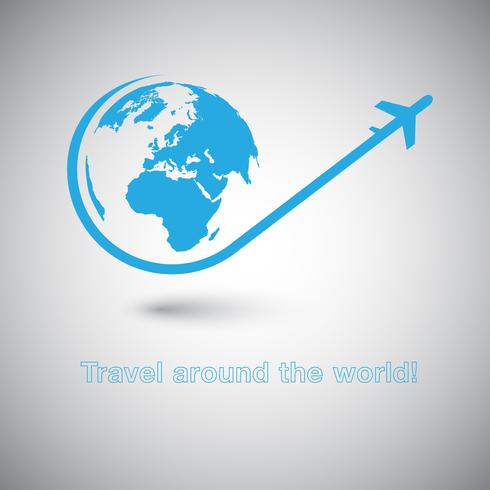 Reis rond het World Plane-pictogram