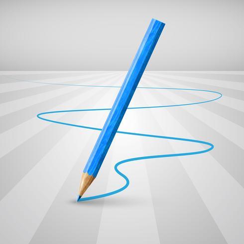 Realistisch houten potlood op een witte achtergrond, vectorillustratie vector