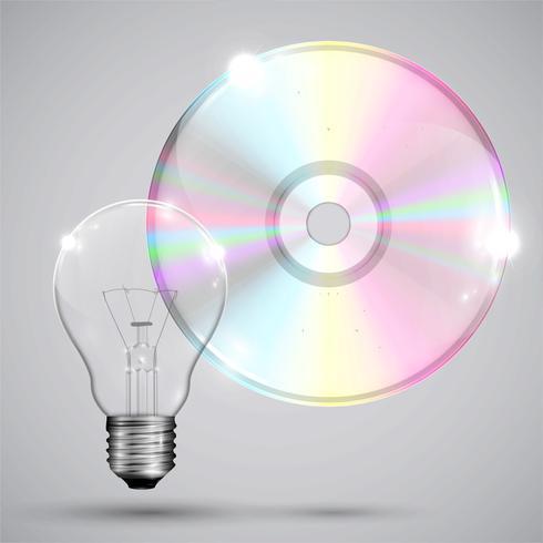 CD / DVD op witte achtergrond, vectorillustratie