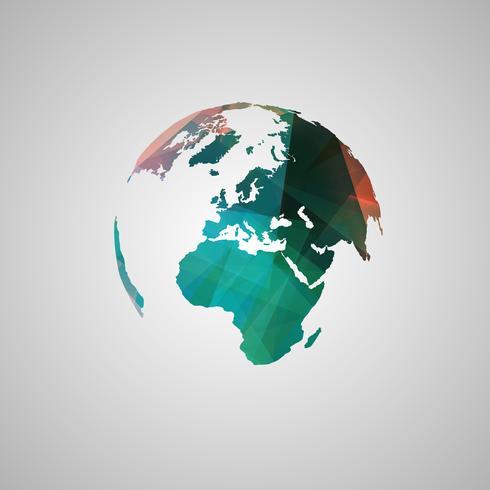 Abstract wereld vectorsymbool