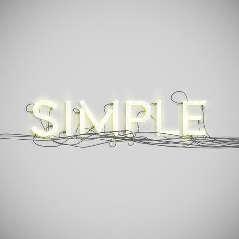 Tipo de palabra eléctrico de neón, ilustración vectorial vector