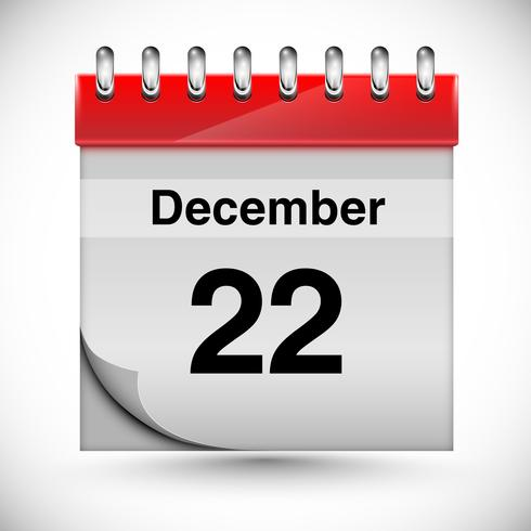Calendar for december, vector