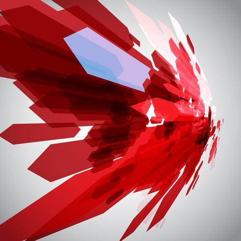 Frecce rosse in movimento vettoriale