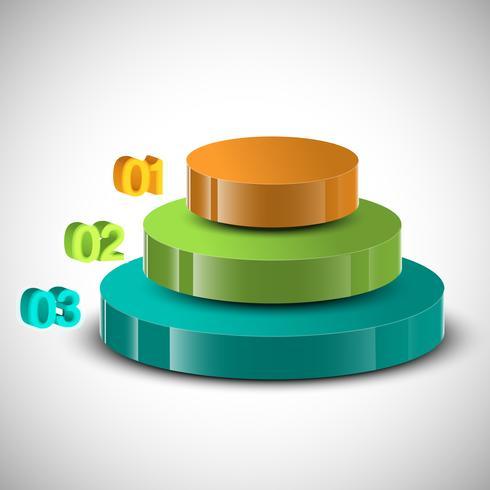Infografía 3D de diseño vectorial.