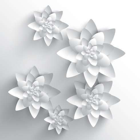 Abstract 3D paper flower