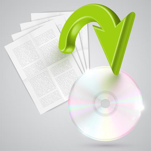 Converta documentos para digital, vetor