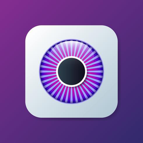 Occhio realistico 3d icona del bulbo oculare