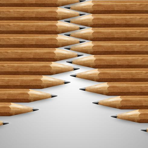 Realistic wooden pencils, vector