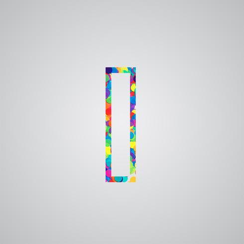 Färgrik karaktär från en uppsättning, vektor illustration