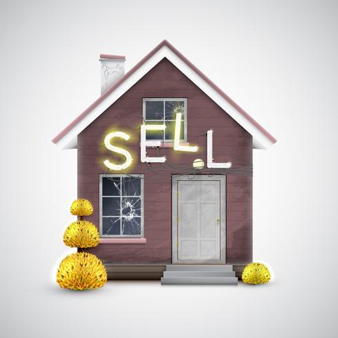 Una vecchia casa da vendere, vettoriale