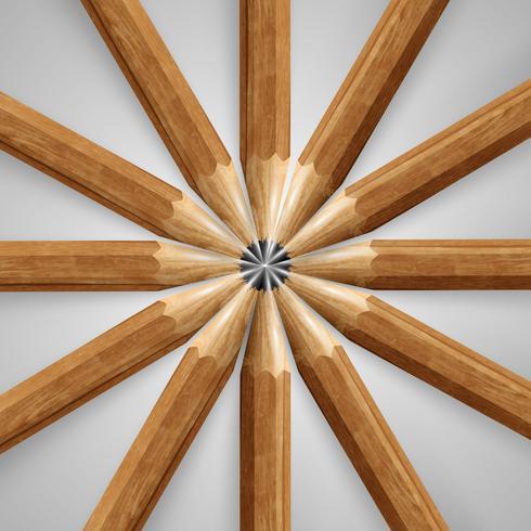 Lápices de madera realista, vector