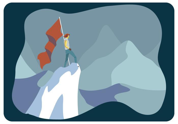 vettore di conquistatore di montagne di ghiaccio