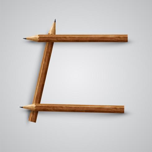Une lettre faite au crayon, vecteur