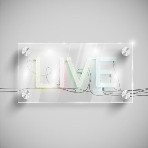 'Live' hinter einem Glastisch, Vektor