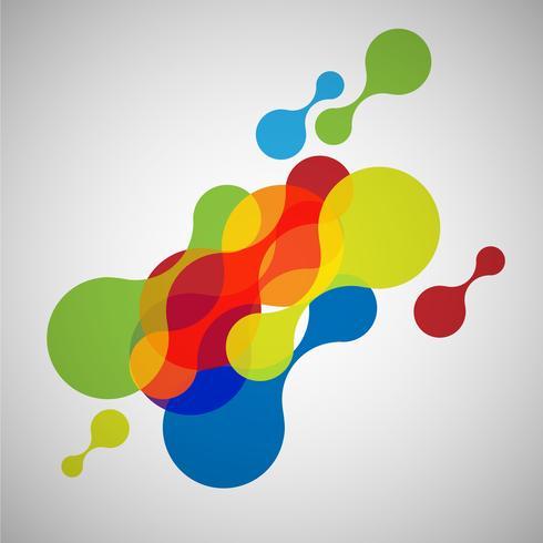 Formas abstractas de colores, vector