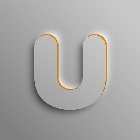 Realistic 3D font, vector