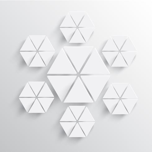 Resumen ilustración vectorial de papel copo de nieve