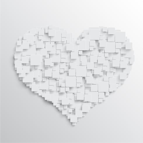 Hart met vierkanten