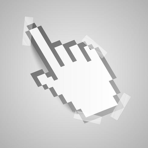 Cursore della mano di carta