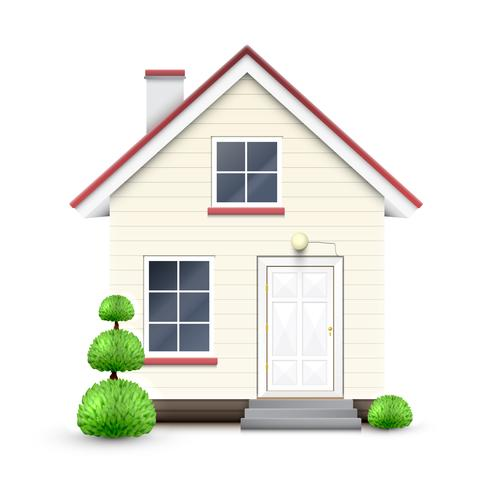 Casa realista, vetor