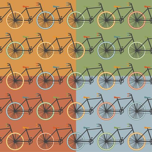 Illustration vectorielle de Oldschool style bycicle