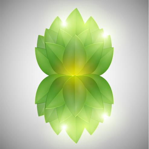 Abstracte groene bladeren, vector