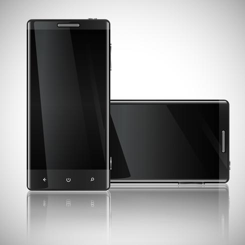Smartphone, Handy lokalisiert, realistische Vektorillustration.