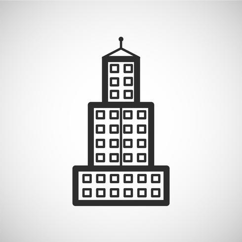 Icono de alojamiento, ilustración vectorial