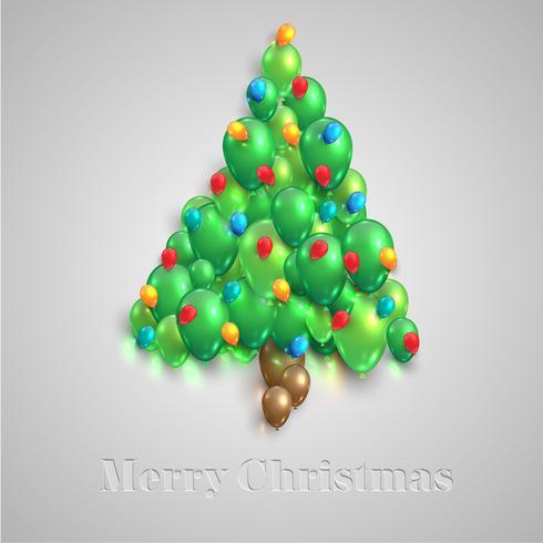Árbol de navidad hecho por globos, vector