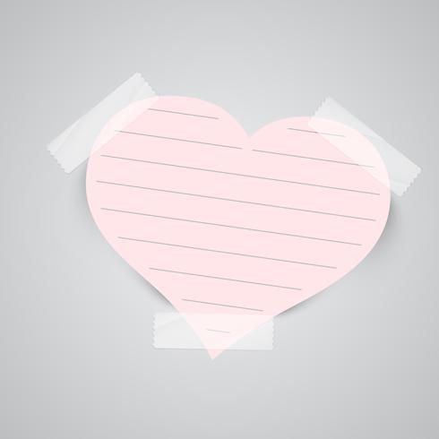 Notas de papel con cinta adhesiva, vector
