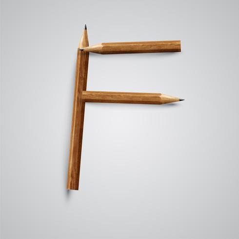 Una carta hecha por lapiz, vector.