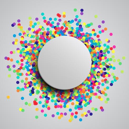 Fond de fête coloré avec des confettis, vector