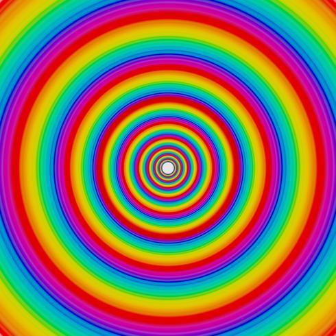 Rainbow circles, vector