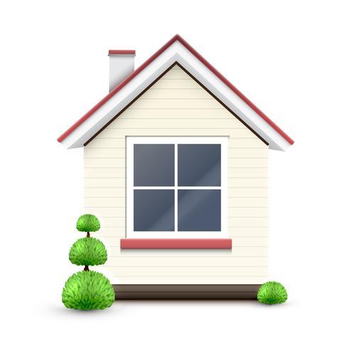 Casa con una gran ventana, vector