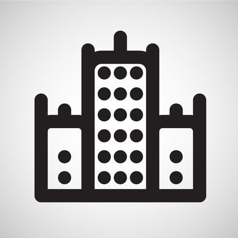 Icono de alojamiento, vector