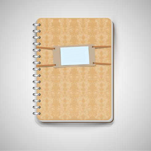 Bruin notitieboekje, vector