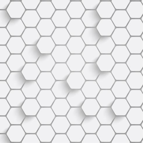Papier zeshoek achtergrond met slagschaduwen. Vector illustratie