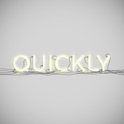 Elektrische Neonwortart, Vektorillustration