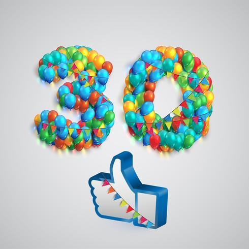 Nombre de goûts créés par ballon, illustration vectorielle