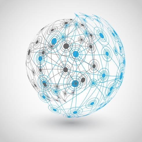 Globe avec orbites, illustration vectorielle vecteur
