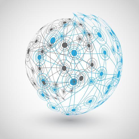 Globe med banor, vektor illustration